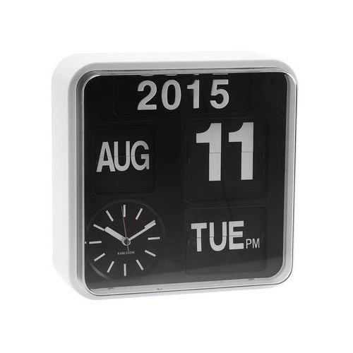 :: zegar ścienny mini flip white casing - mini flip white marki Karlsson