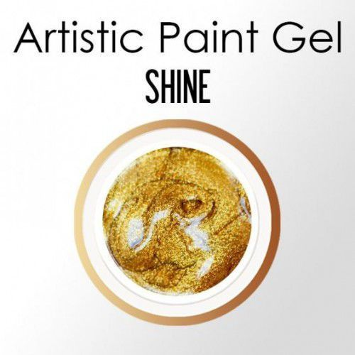 Nails Company ARTISTIC PAINT GEL PASTA 5g - SHINE (Złoty, brokatowy)