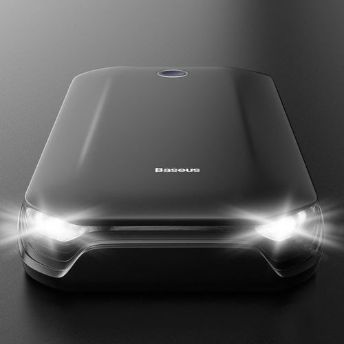 Baseus car jump starter | power bank z funkcją rozruchu samochodu + kable klemy latarka 8000mah 5v/2.4a (6953156212442)