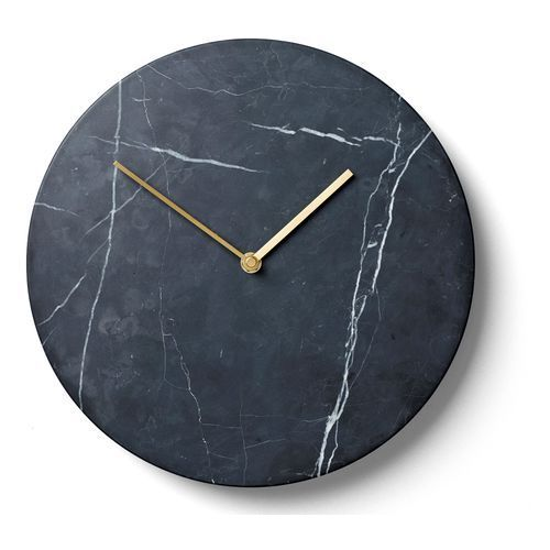 Zegar ścienny Menu Marble 30 cm black, kolor czarny