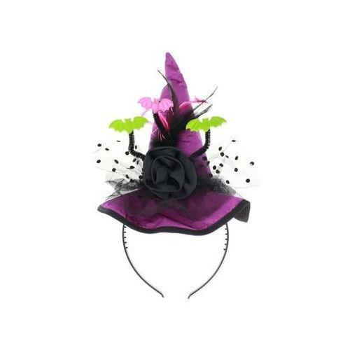 Opaska kapelusz fioletowy pióra i nietoperze - 1 szt. marki Go