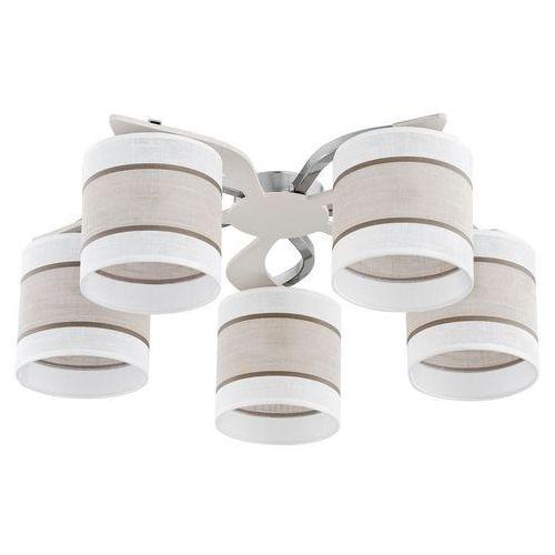 Tklighting Lampa sufitowa żyrandol tk lighting cattleya white 5x60w e27 biała/beżowa 333 (5901780503338)