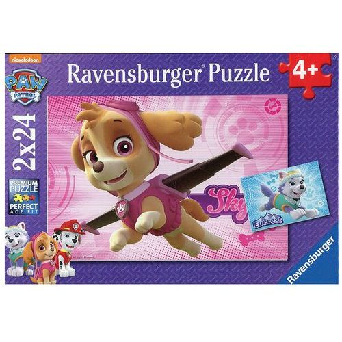 Puzzle 2x24 elementy - Psi Patrol Skye i Everest - Ravensburger (4005556091522)