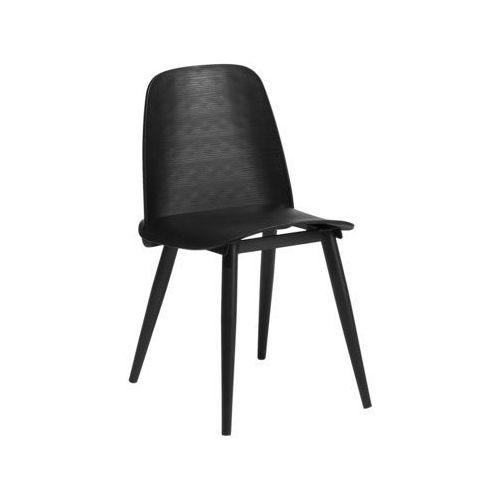 Krzesło do jadalni czarne hamilton marki Beliani