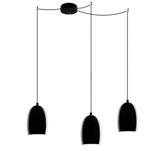 Lampa wisząca ume 3/s/black/opal szklana oprawa zwis czarny marki Sotto luce