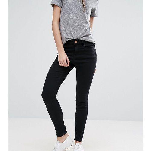ASOS DESIGN Petite Ridley high waist skinny jeans in clean black - Black, kolor czarny