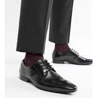 Dune Wide Fit Lace Up Derby Shoes In Black High Shine - Black