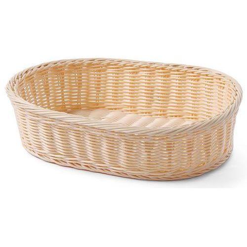 Koszyk do pieczywa owalny z polirattanu | wzmocniony | 380x270x(h)90mm marki Hendi