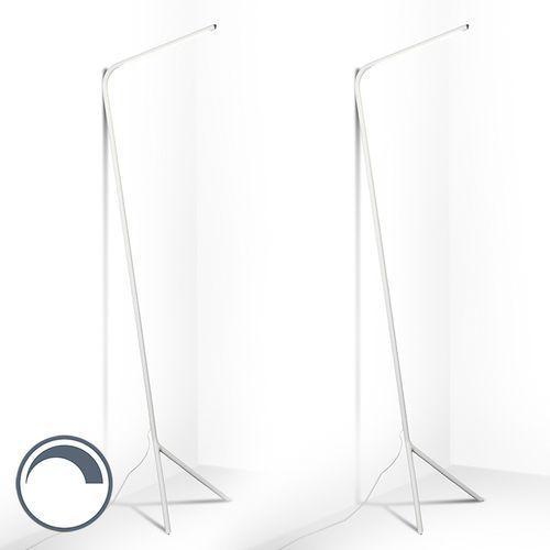 Zestaw 2 lamp stojących lazy lamp biała marki Qazqa