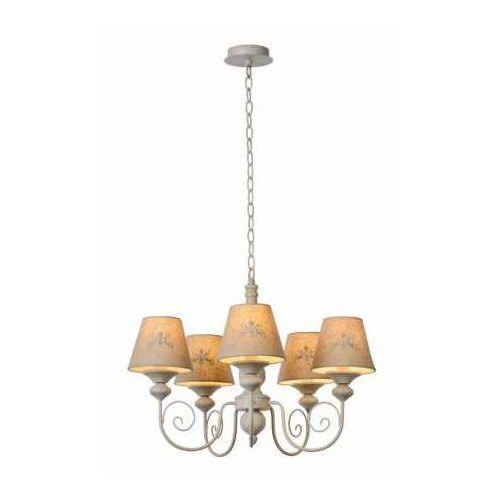Lucide Robin 34339/05/41 Lampa wisząca zwis 5x40W E14 szary/biały, 34339/05/41