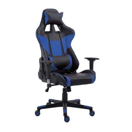 Fotel gamingowy (styl sportowy fotel samochodowy) wybierz kolor: biały, pomarańczowy, czerwony, niebieski niebieski marki Import