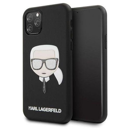 Karl Lagerfeld KLHCN65GLBK iPhone 11 Pro Max czarny/black Iconik Embossed & Glitter - Czarny, kolor czarny