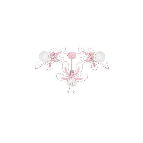 Luminex Plafon dziecięcy motyl 3xe27/60w różowa (5907565953558)