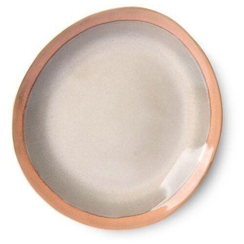 Hkliving talerz obiadowy ceramiczny 70's: earth (zestaw 2 szt.) ace6872, ACE6872