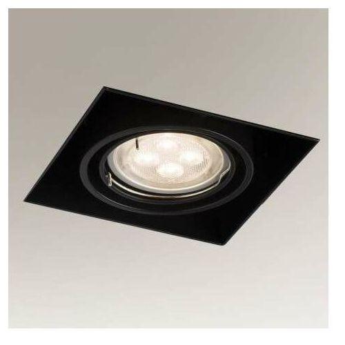 Shilo Wpuszczana lampa sufitowa omura 3301 kwadratowa oprawa podtynkowa metalowy wpust czarny
