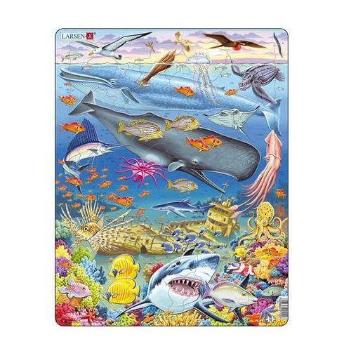 Puzzle maxi - velryba,žralok a titanik/65 dílků marki Neuveden