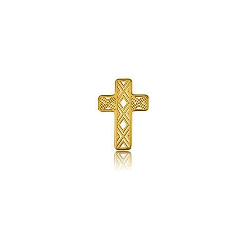 Ażurowy Krzyż, złoto próby 585