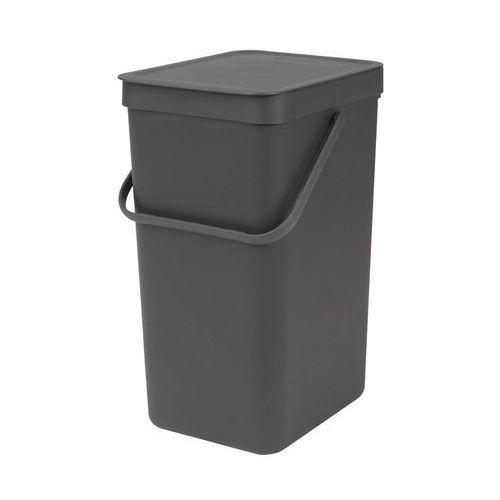 Brabantia - sort go - kosz do segregacji odpadów 16 l - szary (8710755109966)