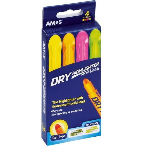 Zakreślacz w sztyfcie 4 kolory - AMOS OD 24,99zł DARMOWA DOSTAWA KIOSK RUCHU