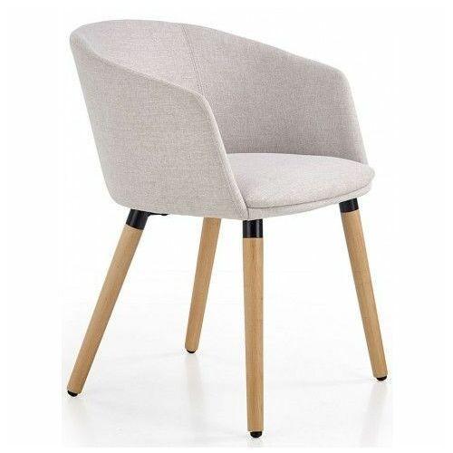 Krzesło drewniane nevil - jasny popiel marki Elior.pl