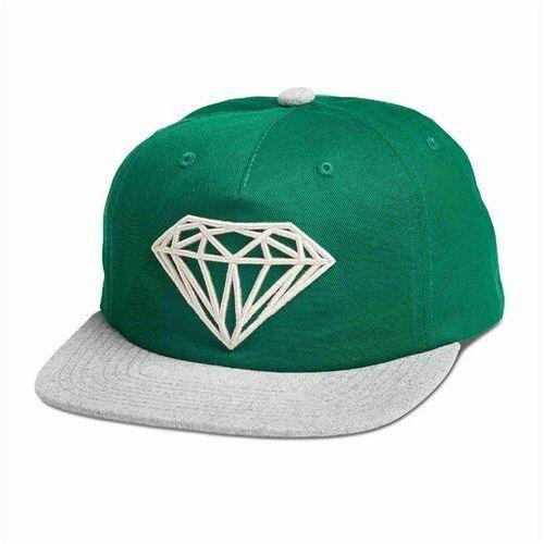 Czapka z daszkiem - brilliant 2-tone unstruc snapb green (grn) rozmiar: os marki Diamond
