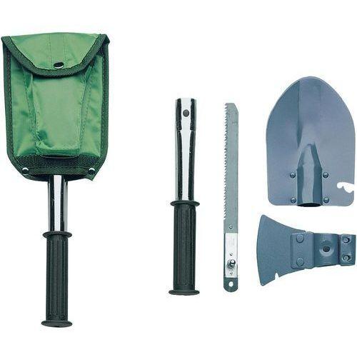 Herbertz Zestaw narzędzi outdoorowych 619200, saperka, siekierka, piła, pokrowiec (4001833010699)