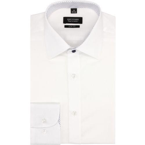 koszula bexley 2761 długi rękaw slim fit biały