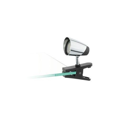 Lampa stołowa Eglo Moncalvio 96843 lampka klips 1x3,3W GU10 chrom/czarny (9002759968434)