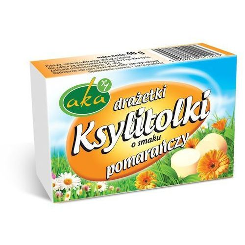 Aka Ksylitolki drażetki pudrowe pomarańczowe 40g b/c (5908228012223)