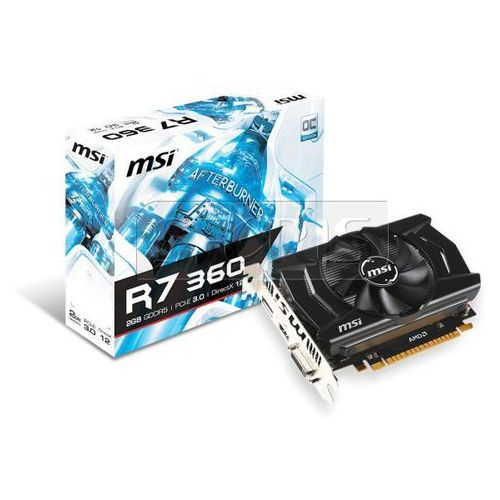 Karta graficzna MSI Radeon R7 360 2048MB DDR5/128b H/D PCI-E T OC - R7 360 2GD5 OC, kup u jednego z partnerów