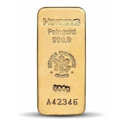 Pamp, argor-heraeus 500 g sztabka złota - 15dni