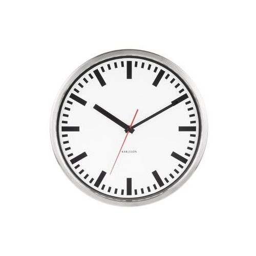 Zegar ścienny station second hand steel polished by marki Karlsson