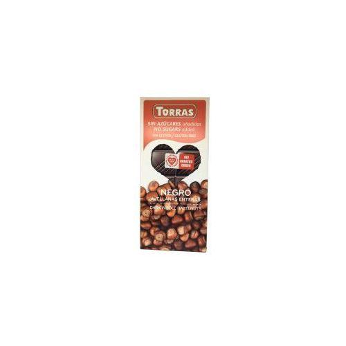 Czekolada Gorzka z Całymi Orzechami Laskowymi bez cukru 150 g Torras (8410342003270)