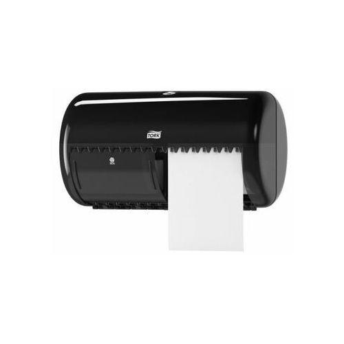 Dozownik Tork do papieru toaletowego w rolkach podwójny czarny (7322540355024)