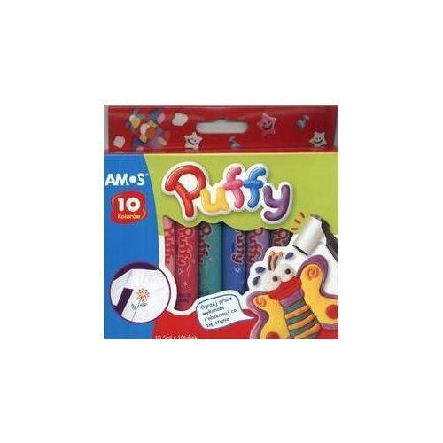 Farby 10 kolorów do tkanin puffy marki Amos