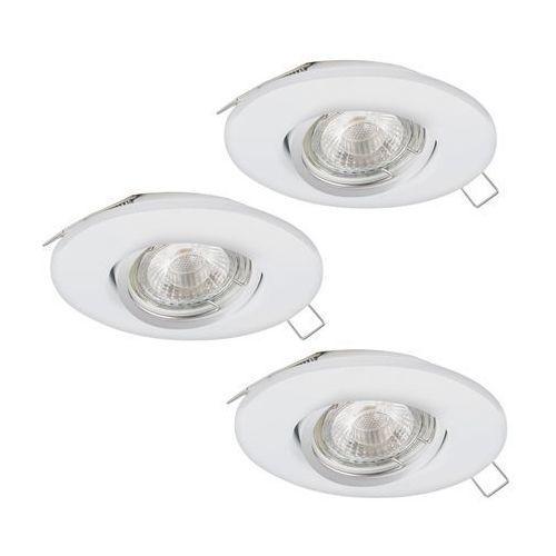 Lampa Eglo Peneto 1 95895 oprawa wpuszczana downlight oczko zestaw 3szt 3x3W GU10-LED białe (9002759958954)