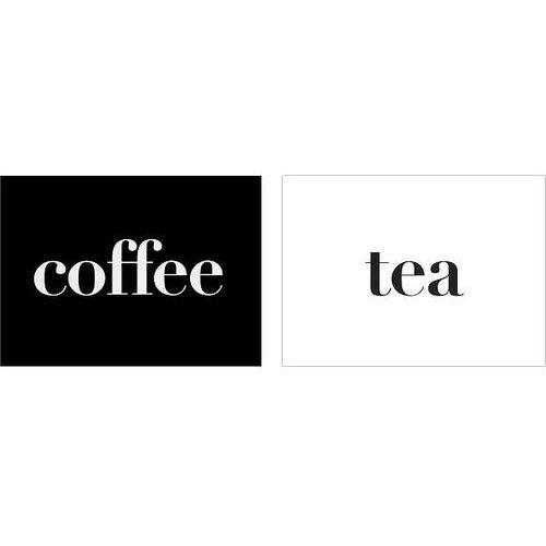 Follygraph Plakaty coffee i tea 2 szt. 40 x 50 cm