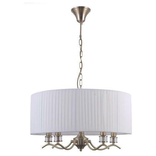 Italux ferlena pnd-28343-5a lampa wisząca zwis 5x40w e14 biała/antyczny brąz (5900644316367)