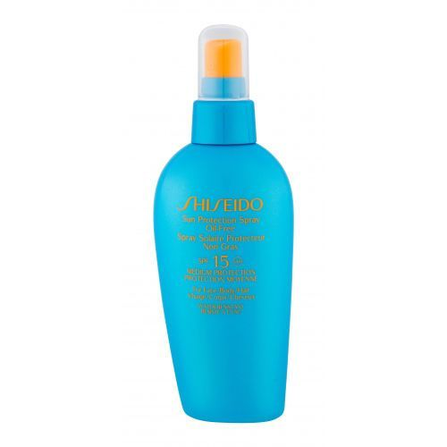 sun protection spray spf15 preparat do opalania ciała 150 ml dla kobiet marki Shiseido