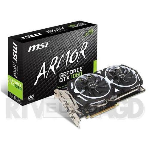 MSI GeForce GTX1060 ARMOR 6G OCV1 6GB GDDR5 192bit - produkt w magazynie - szybka wysyłka!