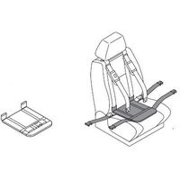 Podkładka udowa z pasem udowym do pasów samochodowych dla niepełnosprawnych careva cross it dzieci, dorośli marki Careva sweden