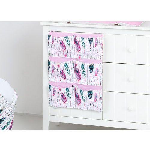 przybornik organizer na łóżeczko piórka morskie marki Mamo-tato