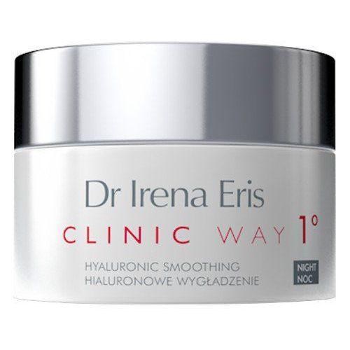 clinic way 1° nawilżająco-odżywczy krem na noc redukujący zmarszczki mimiczne (hyaluronic smoothing, anti-wrinkle dermocream) 50 ml marki Dr irena eris