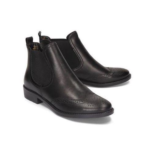 25493-23 001 black, botki, sztyblety damskie marki Tamaris
