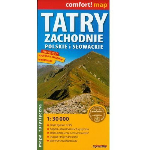 Tatry Zachodnie Słowackie I Polskie 1:30 000 Mapa Turystyczna Laminowana (opr. broszurowa)