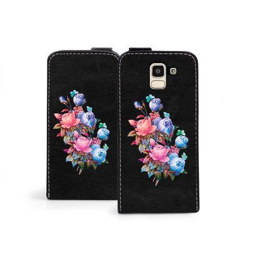 Samsung Galaxy J6 - etui na telefon Flip Fantastic - bukiet róż, ETSM732FLFCEF038000