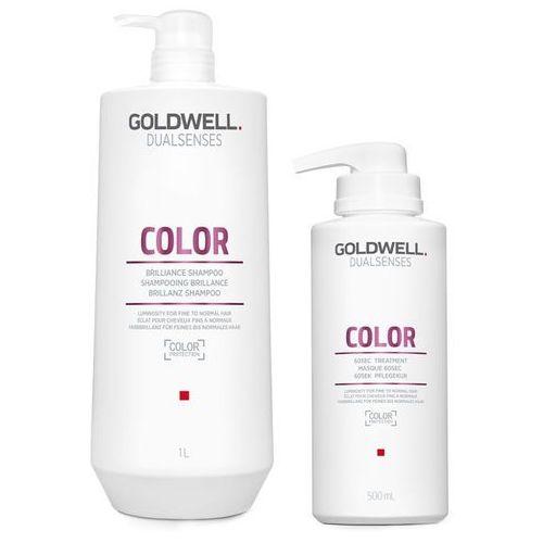 dualsenses color   zestaw do włosów farbowanych: szampon 1000ml + maska 500ml marki Goldwell