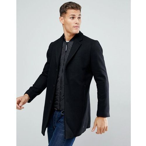 Tom Tailor Smart Coat With Double Layer In Black - Black