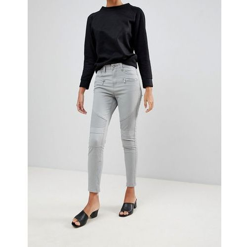 Glamorous skinny jeans with zip ankle detail - Grey, kolor szary