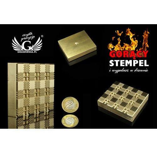 Grawernia.pl - grawerowanie i wycinanie laserem Stempel do wyciskania logotypu na gorąco i zimno - wymiary matrycy: 60x70mm - cnc
